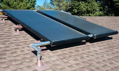 Home Solar Water Heaters for Residential Solar Panels in Vancouver WA Longview Kelso Kalama Camas Washington by GreenLight Solar & Roofing Contractors